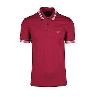 BOSS Athleisure Pomo Paddy Polo paita Tummanpunainen