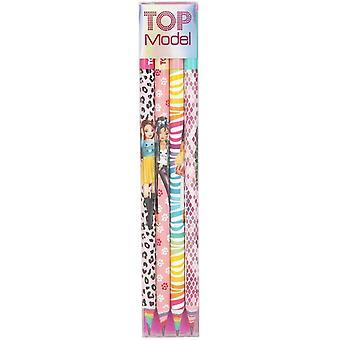 Depesche Topmodel 8770 Pencil Set Of 4 In Case