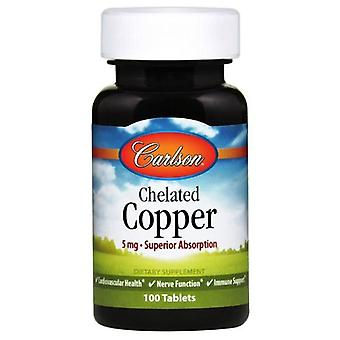 Carlson Labs Chelated Copper 5 mg 100 tabletas