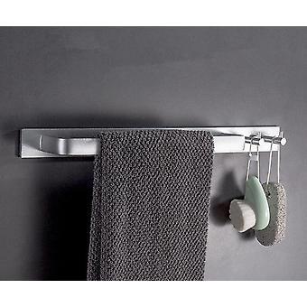 Raum Aluminium schwarze Handtuchleiste, Wand montiert mit Doppelhaken
