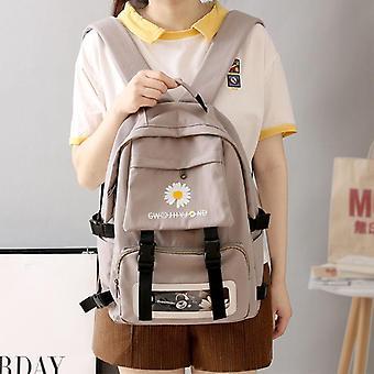 Teenage Oxford Waterproof School Back Pack Flowers Fashion Bagpack/transparent