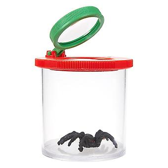 Animal Magnifier Glass Cylindrical Spider Educational Toy - Plastic Bottle