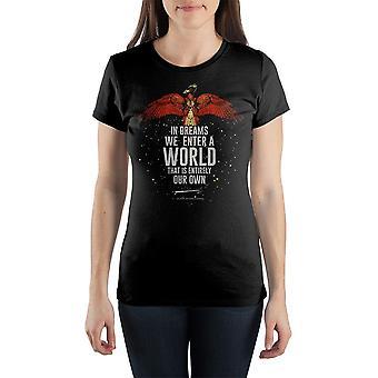 J.k. rowling harry potter quote women's black t-shirt tee shirt