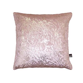 Stardust Metallic Cushion In Blush Pink