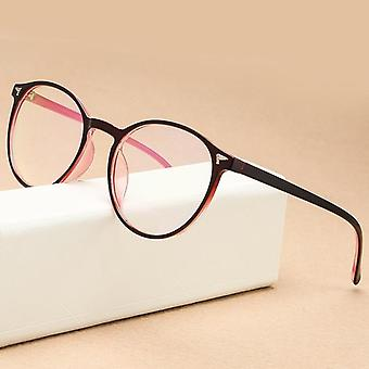 Retro Plastic Round Computer Glasses Frame Vintage Myopia Eye Glasses Women
