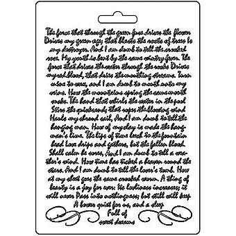 Stamperia Soft Mould A5 Käsikirjoitus