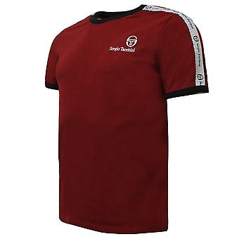 Sergio Tacchini Mens Dalhoa T-Shirt Casual Lounge Top Bourgogne 38357 651