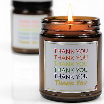 Thank You Printed On Jar-soy Wax Blend Candle