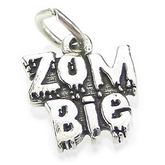 Zombie Sterling Silver Charm 0,925 X 1 Horror Zombies og Udøde Charms - 4162