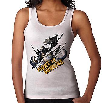 King Kong Vs T Rex Kämpa för att överleva Women's Vest