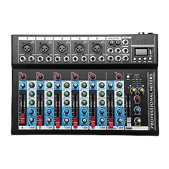 7 Channel USB Portable Monitor Mixer bluetooth Live Studio Audio Mixing Console for Karaoke DJ