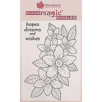 Woodware Clear Singles Sunny Päivänkakkara 4 x 6 postimerkissä