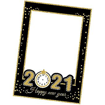 Party Props Photo Booth Frame 2021 Sunflower Printed Selfie Frame