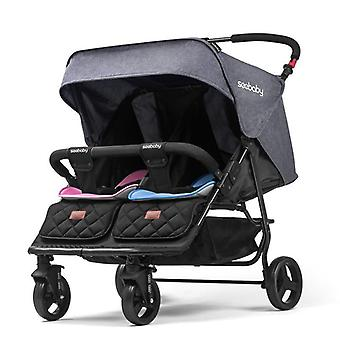 Twin Baby Stroller Can Sit, Reclining, Folding, Two Sitting Side By Side,
