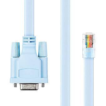 Cisco 72-3383-01 6ft Rollover Console Cable DB9 Female To RJ45 Male