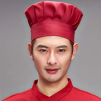 Adjustable Men Kitchen Baker Elastic Hat, Catering Cooking Cap