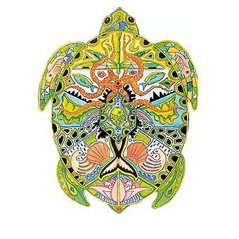 Children's turtle wooden jigsaw puzzle A5