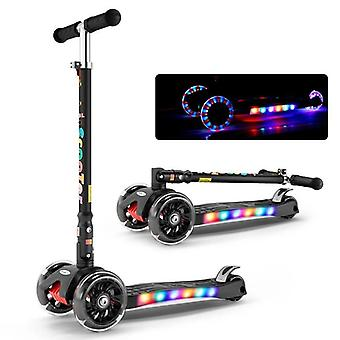 Adjustable Foldable, Balance Scooter, Bike Light Flash, Ride-on Toy For &