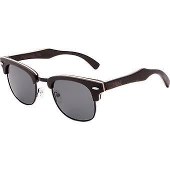 Real Ébano 1/2 Madeira Estilo Retroshade Óculos de Sol Por Wudn