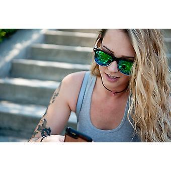 Πραγματική Ζέβρα ξύλο φρυδιών στυλ ρετρόσεδή γυαλιά ηλίου από Wudn