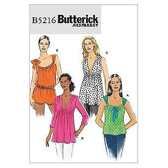 أنماط الخياطة Butterick 5216 يفتقد أعلى تونيك الحجم L-XL