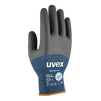 Uvex 60062 maat 10 blauw/zwart veiligheid Phynomic Pro handschoenen antraciet