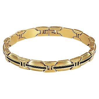 ROCHET RACING Heren armband - goud pvd staal en carbon