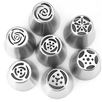 Stainless Steel Flower Cream Pastry Tips, Tulip Icing Piping Nozzles