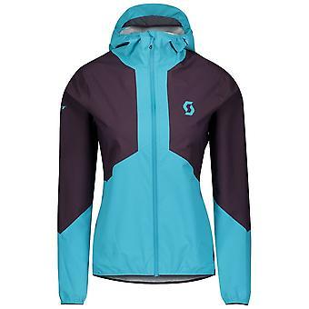 Scott Explorair Light Dryo 2.5l Womens Running Jacket Dark Purple/breeze Blue