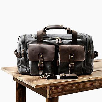 Muchuan män duk läder reseväskor bär på bagageväskor stora resande duffelväskor tote stor helgväska över natten