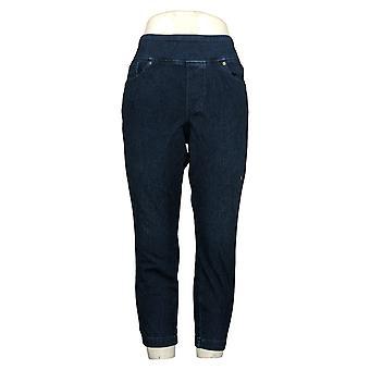 Belle By Kim Gravel Women's Petite Jeans Back Zip Jegging Blue A374472