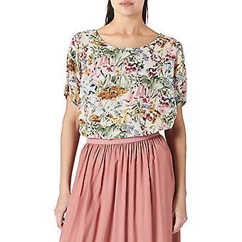 ONLY CARMAKOMA CARVICA SS Top Noos T-Shirt, Cloud Dancer/AOP: Flower flower, 60 Woman