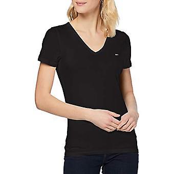Tommy Jeans TJW Skinny Stretch V Neck T-Shirt, Black, XL Woman