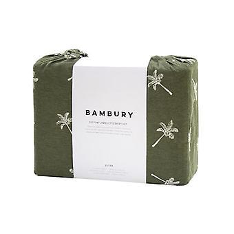 Bambury Cocos Olive Flannelette Sheet Set