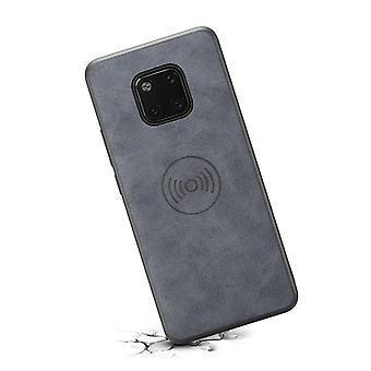 حقيبة جلدية مع فتحة بطاقة محفظة ل Huawei P30 رمادي رجعي