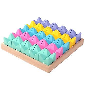 Drewniane puzzle kształt wczesnego zabawek edukacyjnych dla rozwoju zainteresowania i rozpoznawania kolorów| Bloki