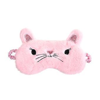Sleeping Mask Cartoon Cat Kitty Ey Mask Plush Eyepatch Blindfold