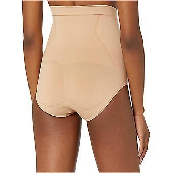 Marca - Arabella Women's Cintura Sin costura Cinching Shapewear Breve, Nude, Medio