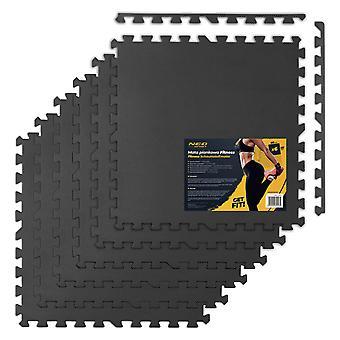 Fitnessschaum Fliesenbodenschutz 180 x 120 cm – Schwarz