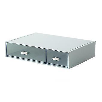 Monivärinen 1kpl pinottava laatikko kosmetiikkaan /koruihin harmaa dt2590