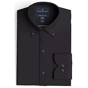 """BUTTONED DOWN Men's Slim Fit Button-Collar Solid Non-Iron Dress Shirt (Pocket), White, 16"""" Neck 34"""" Sleeve"""