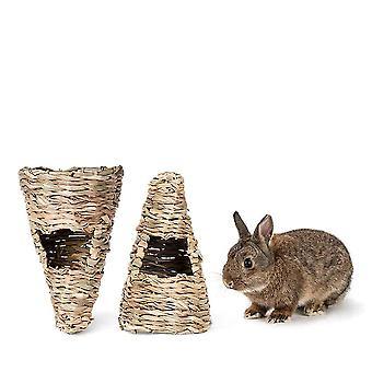 Uusi olki kani ruoho kiinteä ruokinta häkki lemmikki kani pesä ES4896