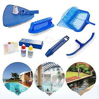Zanlure 6pcs حمامات السباحة كاشطة صافي القمامة تنظيف أشعل النار + فرشاة الجدار + حمامات الحرارة العائمة تنظيف الملحقات