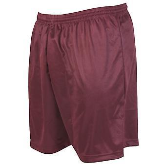 Präzision Micro-Streifen Fußball Shorts 22-24 Zoll Maroon