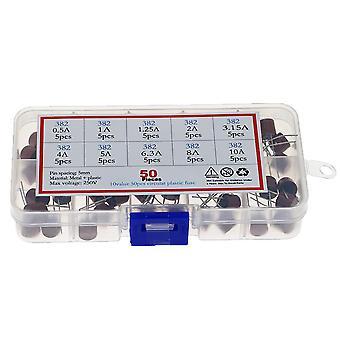 10種類スクエアヒューズプラスチック382電気アソートヒューズミックスセット