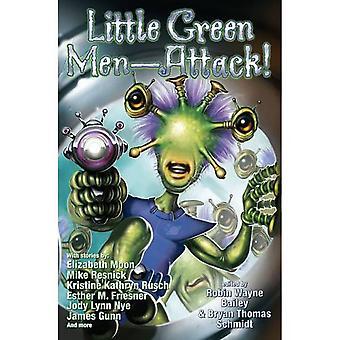 Liten grön man-attack