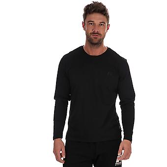 Men's Russell Athletic LS Crew Neck T-Shirt in Black
