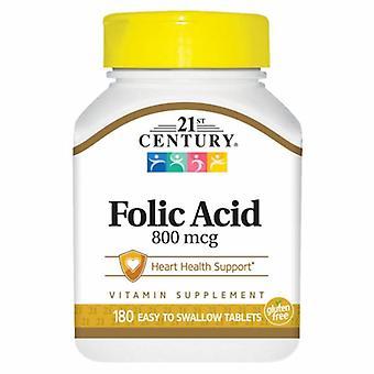 21st Century Folic Acid, 800 mcg, 180 Tabs