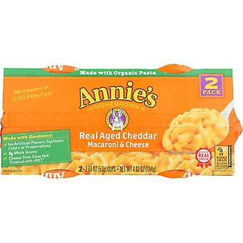 Annie's Homegrown Pasta Cup Agd Chdr 2Pk, Case of 6 X 4.02 Oz