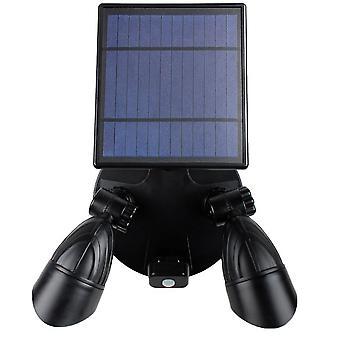 Outdoor solar human body induction spotlight, 14 LED waterproof garden wall light